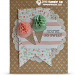 CARD: Sweet HoneyComb Happiness Ice Cream Cones