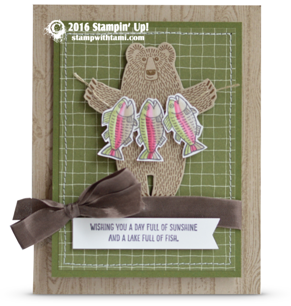 stampin up bear hugs stamp set card fish masculine