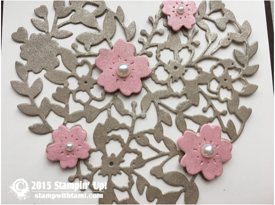 stampin up bloomin heart up close