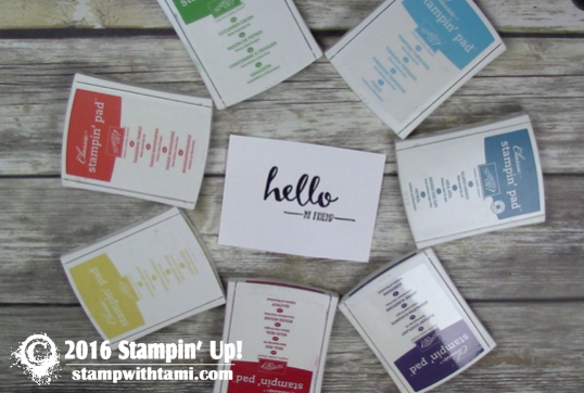 stmapin up rainbow ink pads