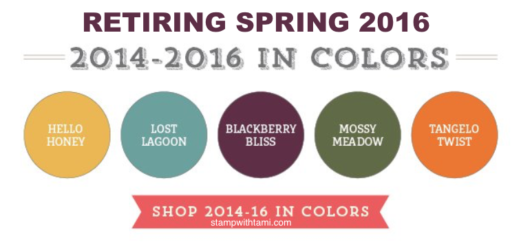 stampin up shop retiring in colors