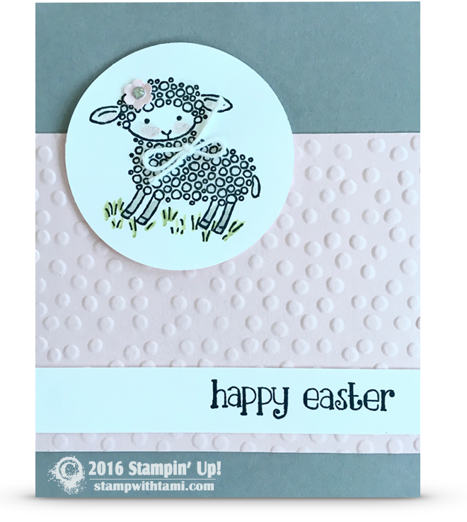 CARD: Mary had an Happy Easter Lamb | Stampin Up ...