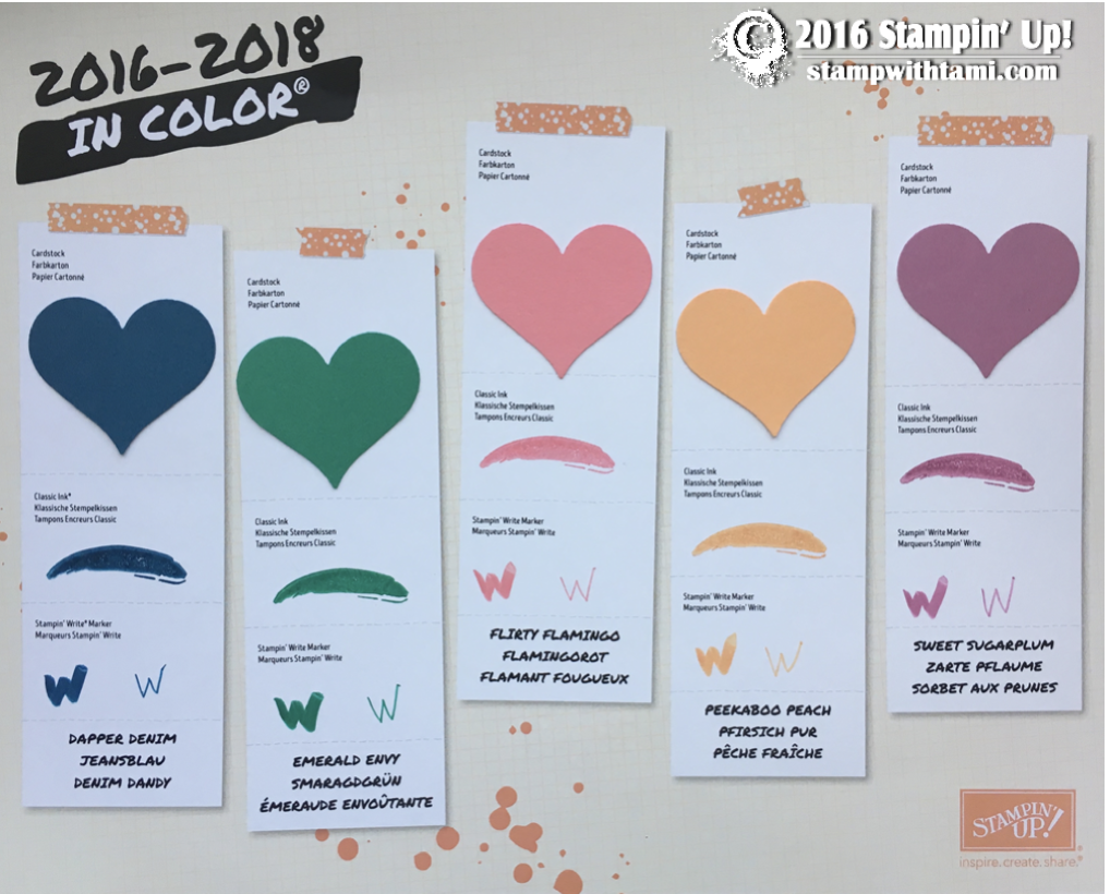 stampin up 2016-17 in color chart