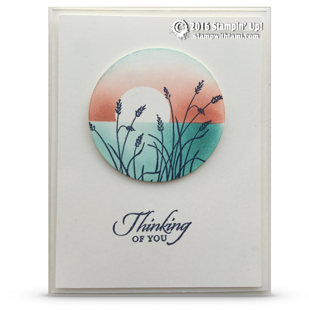 stampin up wetlands sympathy card
