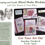 EVENT: Get Your Art On Workshop coming October 8
