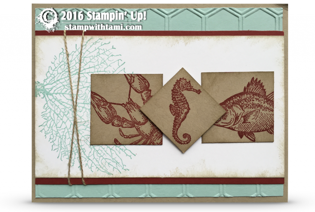 stampin up by the tide stamp set card