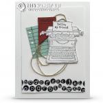 CARD: Retiring Tap Tap Tap Typewriter Card