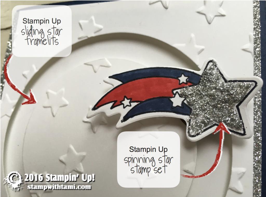 stampin up patriotic shooting start card