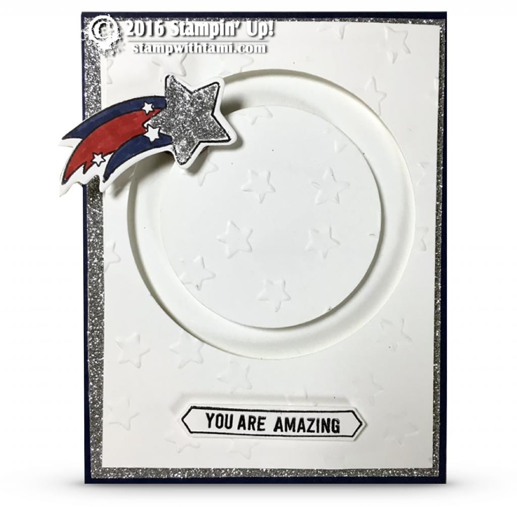 stampin up shooting star spinning card