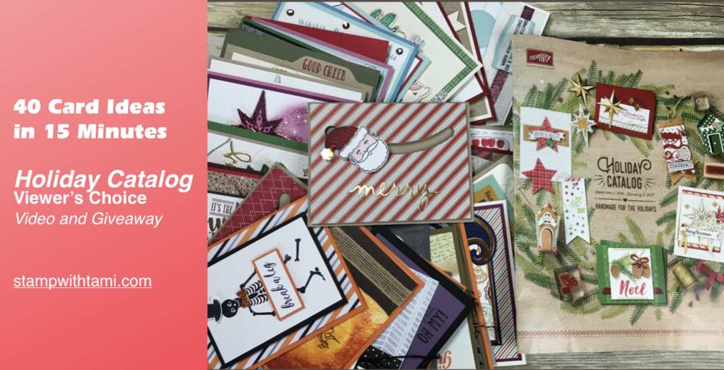 stampin up 40 holiday card ideas in 15 minutes video
