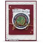 CARD: Beautiful Holly Jolly Layers Christmas Card