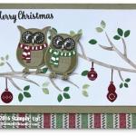 CARD: Cozy Critters Owl Christmas Card