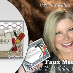 VIDEO: Nailed it! How to make Faux Metal Background and Accessories