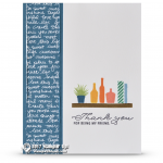 CARD: Thank you friend card from the Bookcase Builder Set