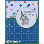 CARD: Happy Birthday Doggie and Stampin Up OnStage Bound