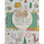 CARD: Wild About You Bears Camping in Tents Card