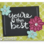 """CARD: Striking """"You're the Best"""" Card from the Watercolor Words Stamps"""