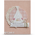 CARD: Welcome Little One Baby Tent Card