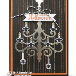 CARD: Happy Halloween Chandelier Season to Sparkle Card