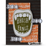 CARD: Brush Your Fangs Halloween Card from Creep It Real Part 2 of 3