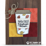 CARD:  Hello Fall Card from the Merry Cafe Stamps