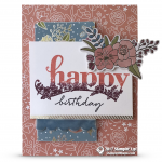 SNEAK PEEK: Happy Birthday Card from the Sale-a-Bration Happy Wishes Stamp Set