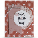 SNEAK PEEK: Love You Card from Sale-a-Bration Party Panda Stamps