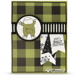 CARD: Jolly Christmas from Santa's Suit Stamp Set