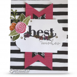 SNEAK PEEK: Best Wishes Card from Happy Wishes stamps