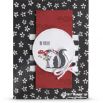 CARD: Hi There Stinkin' Cute Skunk Card from the Hedgehugs
