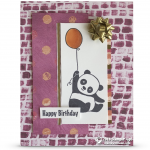 CARD:  Happy Birthday from the Party Panda Stamps
