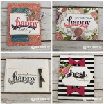 Best of the beautiful Happy Wishes Sale-a-bration Stamp Set retires tomorrow