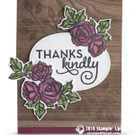 CARD:  Thanks Kindly Card from the Petal Palette Stamps