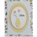 SNEAK PEEK: Hello Floral Vase Card from the Varied Vases Bundle