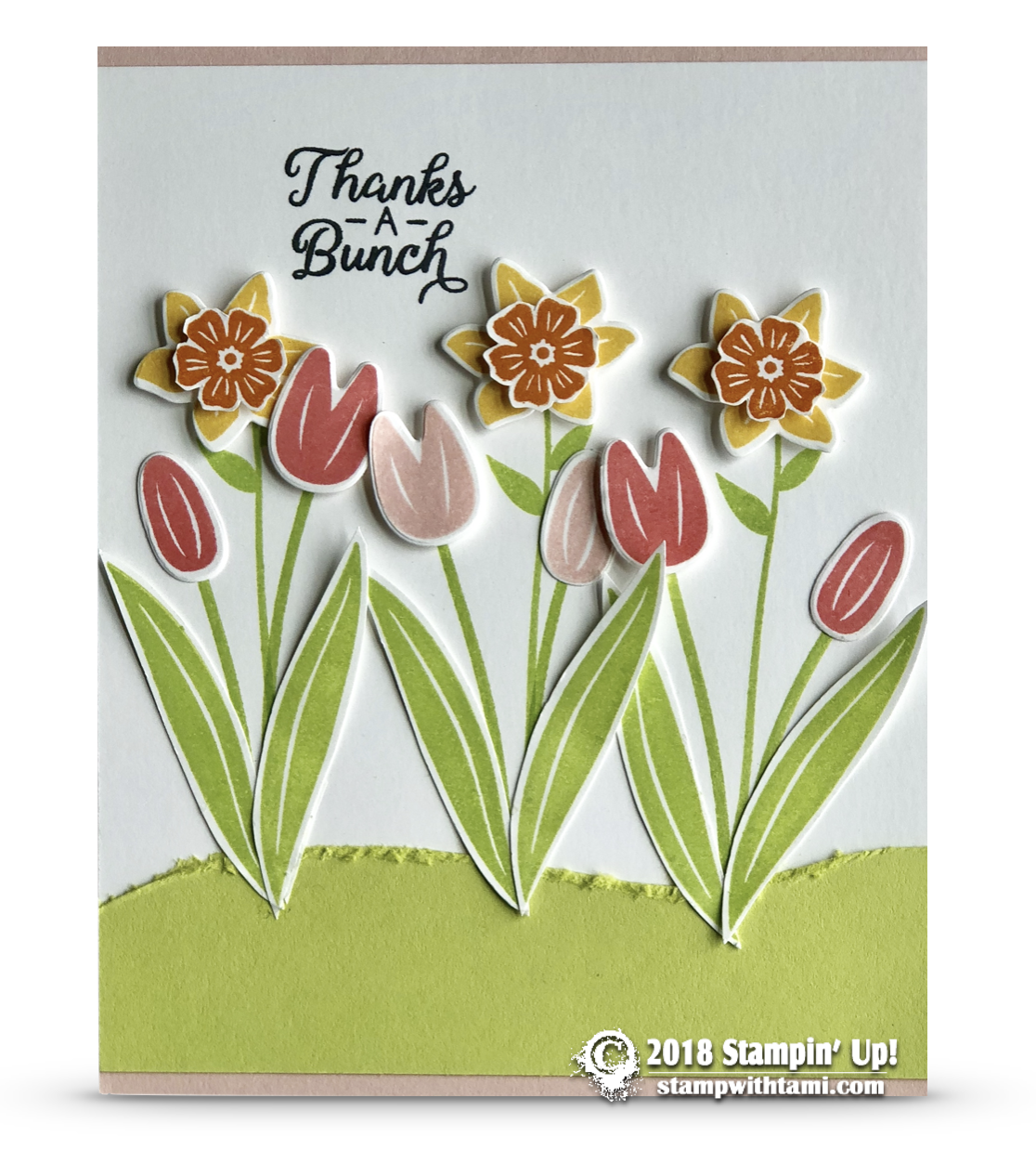 Card Thanks A Bunch From The Beautiful Bouquet Stamps Stampin Up Demonstrator Tami White Stamping Crafting Card Making