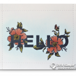 CARD: Hello Flower Card from Floral Statements