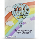 CARD: Birthday Hot Air Balloon from the Lift Me Up Stamps
