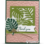 CARD: Beautiful Thank You Card from the Tropical Escape Suite – new