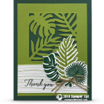 CARD: Beautiful Thank You Card from the Tropical Escape Suite