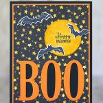 "CARD: ""Boo"" Halloween card from the Spooky Sweets Stamp Set"