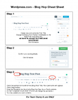 Wordpress.com Cheat Sheet