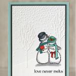 CARD: Love Never Melts Snowman Card