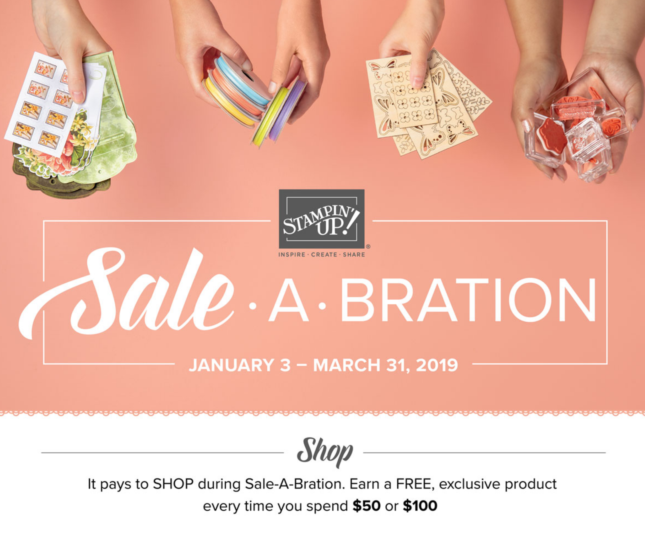Sale-a-Bration 2019 – Learn how to get these free limited