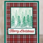 CARD: Merry Christmas trees from the Timeless Tidings Stamp Set