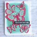 SNEAK PEEK: On My Mind Butterfly Wow Card from the  Beautiful Butterflies dies