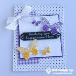 CARD: Sending Love and Happiness from the Butterfly Gala Stamp Set