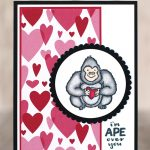 CARD: I'm Ape Over You Valentine's Day Card from the Hey Love Stamps Part 1