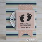 CARD: Little Feet Baby Card from the First Steps Stamp Set