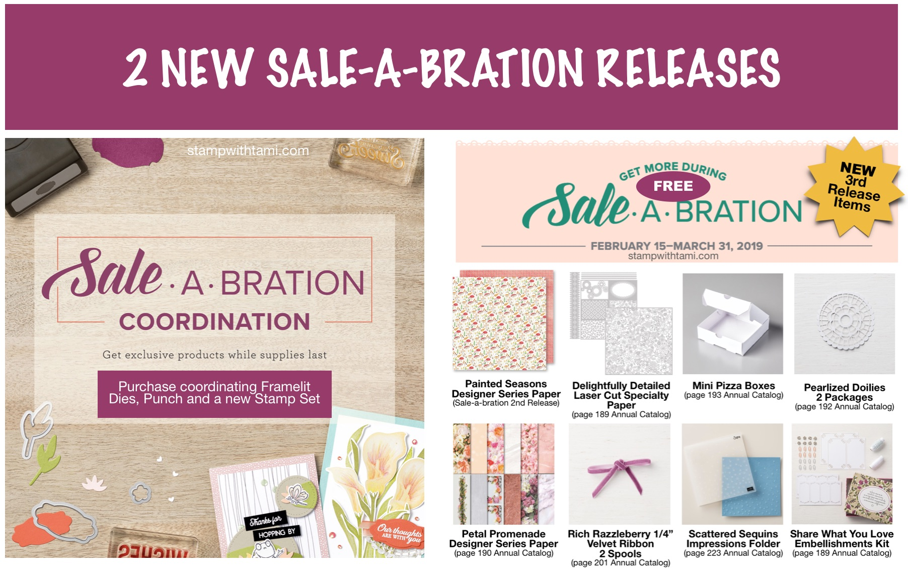 2 NEW Sale-a-bration Releases: 3rd Release & SAB
