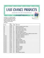 2018-19 Annual Catalog Retiring List
